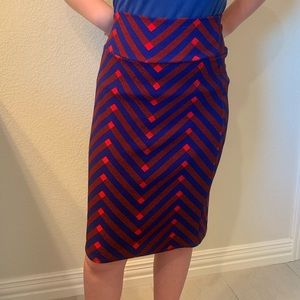 💙❤️LulaRue Red and blue pencil skirt💙❤️